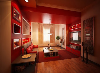 diseño de sala roja