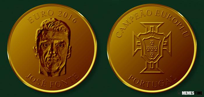 Meme com Medalha Comemorativa da Conquista do Euro 2016 pela Seleção Nacional de Portugal – José Fonte