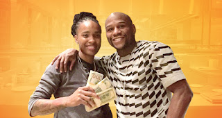 La Chef Q, Quiana Jefferies con Floyd Mayweather