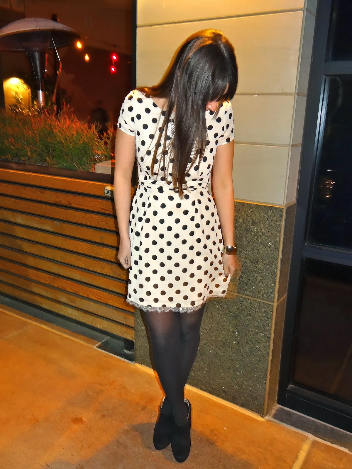 Lunavida Spotted Shift Dress Tights Ankle Booties