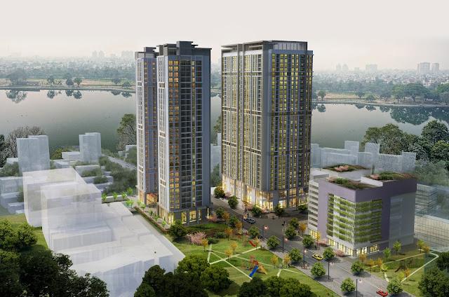 Phối cảnh tổng thể chung cư Eco Lake View Hoàng Mai