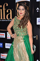 Manjusha in Beautiful Sleeveless Green Anarkali dress at IIFA Utsavam Awards 32.JPG