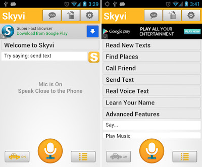 Skyvi (Siri for Android)-Siri Alternatives