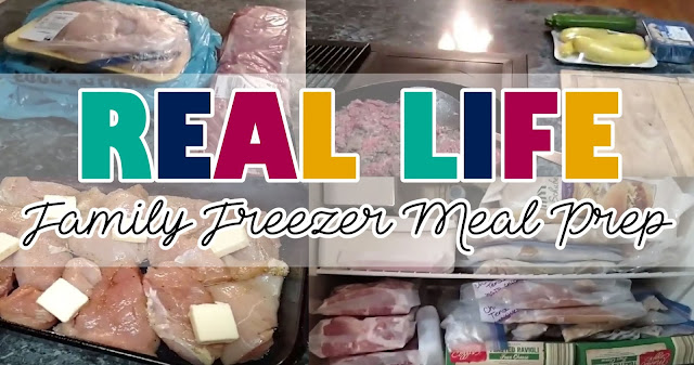 Real Life Freezer meals family