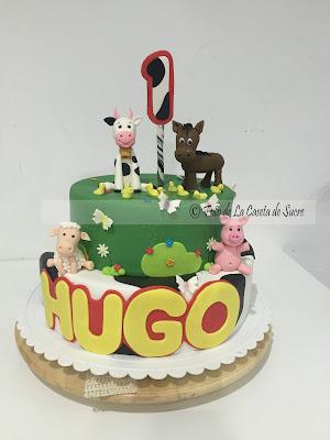tarta animales granja