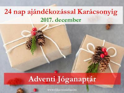 adventi, adventi naptár, jógakalendár, adventi kalendárium