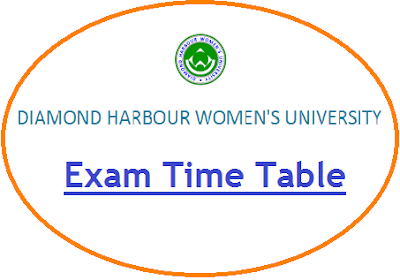 Diamond Harbour University Exam Time Table 2020