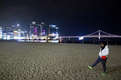 Pantai yang Indah Dinikmati Kala Malam di Busan
