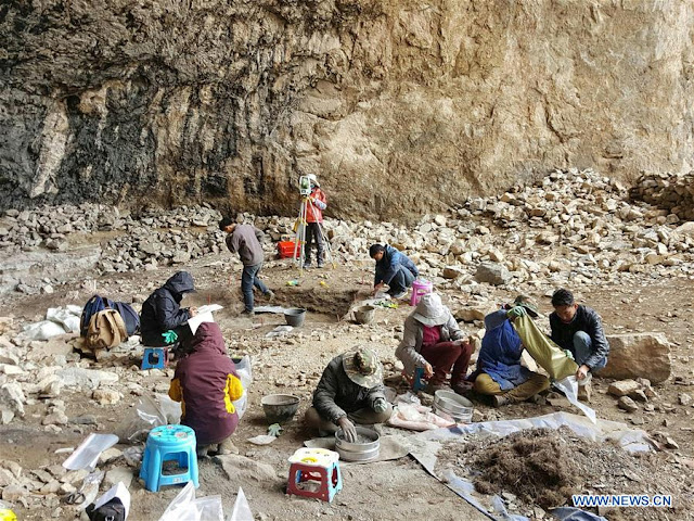 4,000-year-old cave site discovered on Tibetan plateau