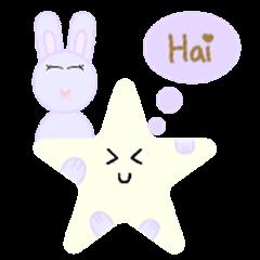 Rabbit and yellow star