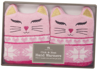 Cat knitted hand warmers