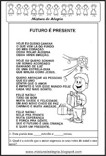 Poesia Futuro é presente - natal