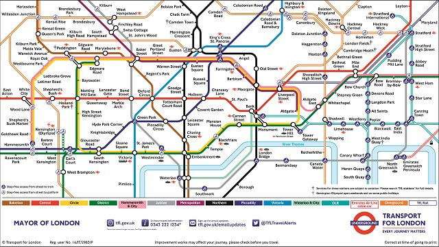 Map Of London With Underground.London Tube Map London Underground Map Full Of Entertainment