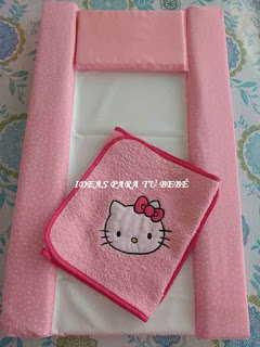 Cambiador bebe Hello Kitty