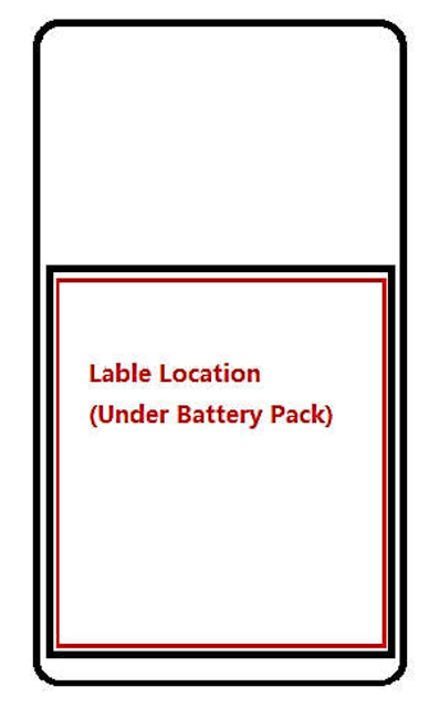 Nokia TA-1184 Label Location