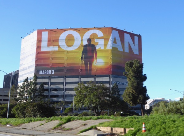 Giant Logan movie billboard 405 freeway