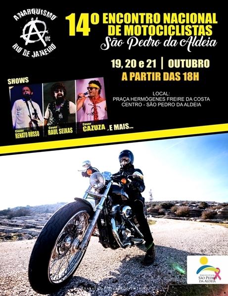 São Pedro da Aldeia recebe 14º Encontro Nacional de Motociclistas nos dias 19,20 e 21 de outubro