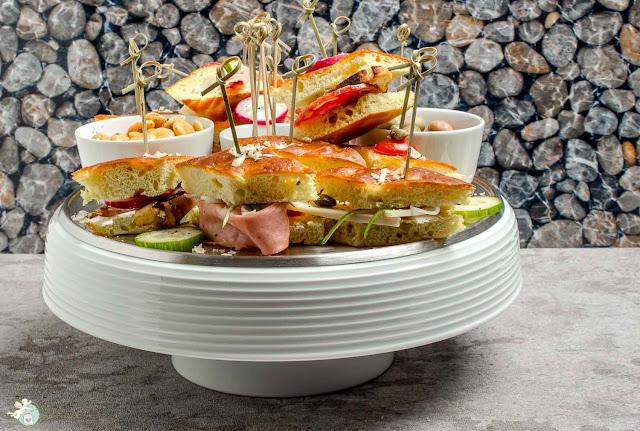 Kartoffelbrot, Sandwich aus Kartoffelteig