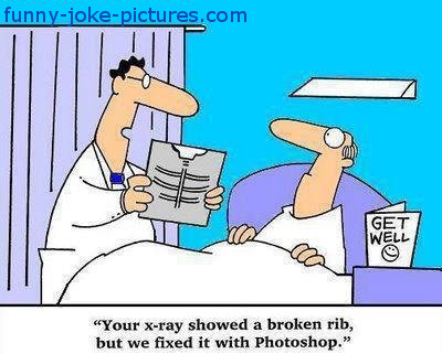 Funny X-Ray Rib Photoshop Fix Cartoon