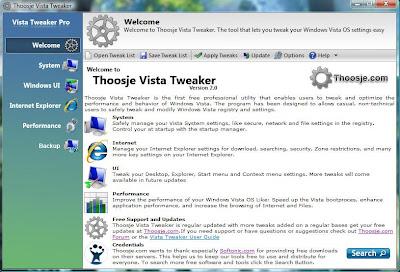 Thoosje Vista Tweaker 2 0 download - FreewareLinker com