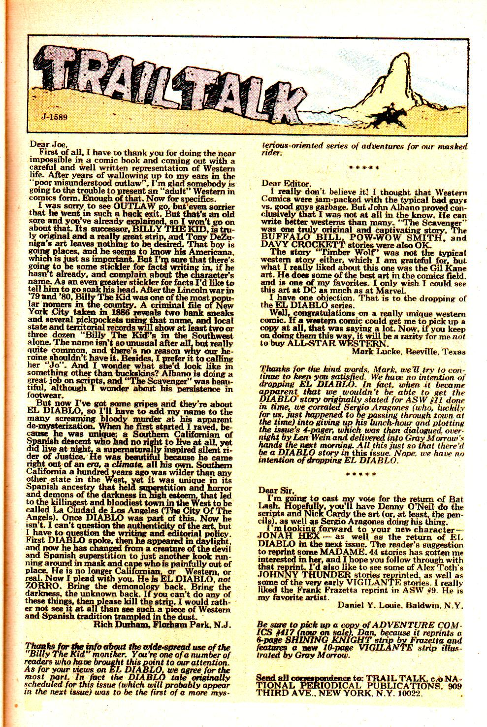 Read online All-Star Western (1970) comic -  Issue #11 - 25