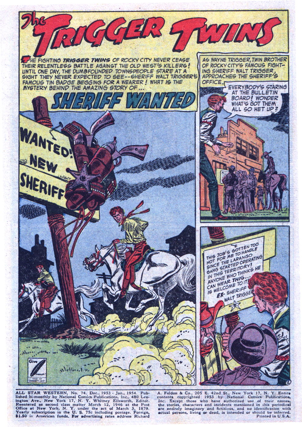 Read online All-Star Western (1951) comic -  Issue #74 - 3