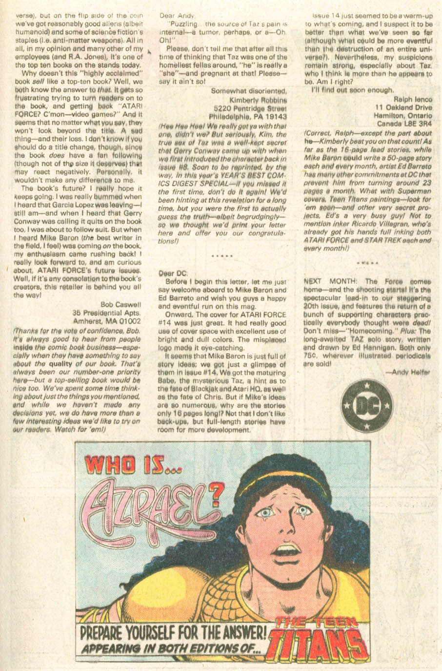 Read online Atari Force (1984) comic -  Issue #18 - 20