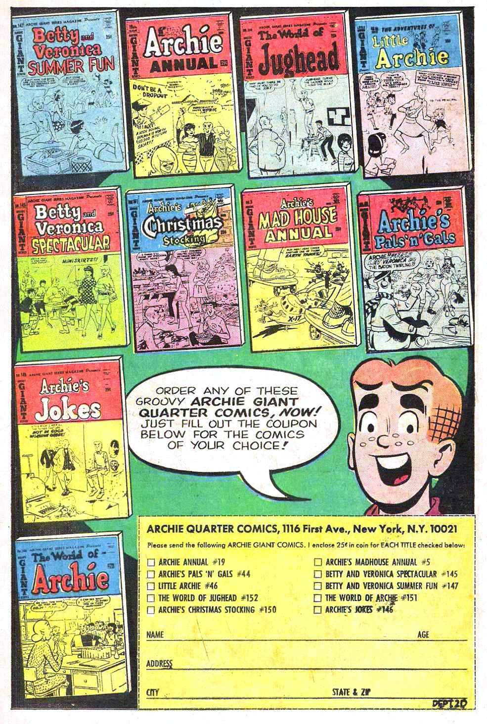 Read online Archie (1960) comic -  Issue #180 - 19