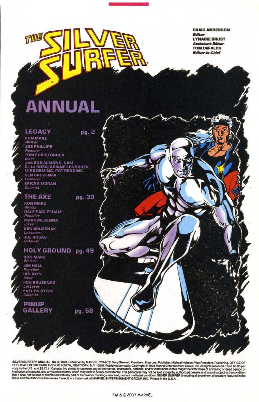 Read online Silver Surfer (1987) comic -  Issue # _Annual 6 - 3