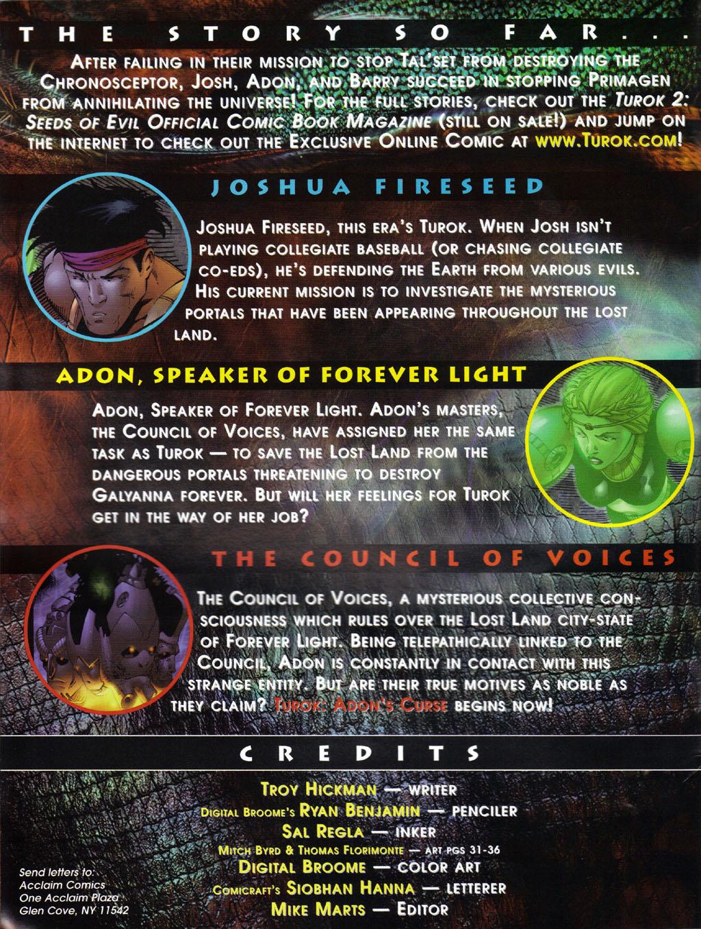 Read online Turok 2: Adon's Curse comic -  Issue # Full - 3