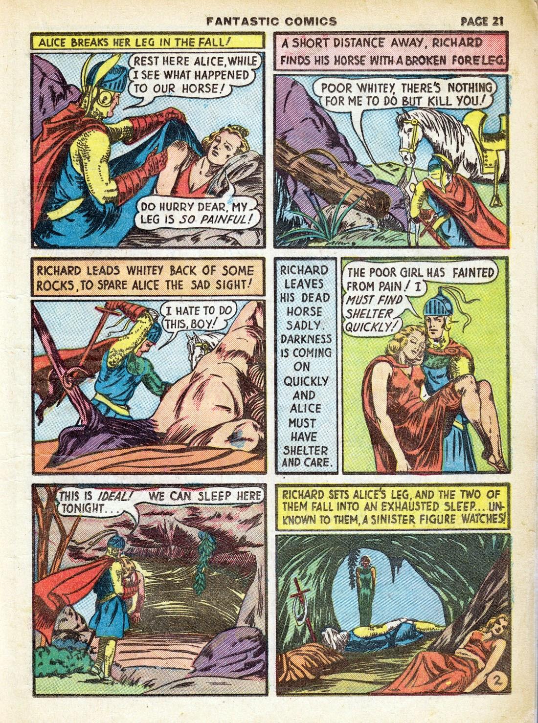 Read online Fantastic Comics comic -  Issue #7 - 23