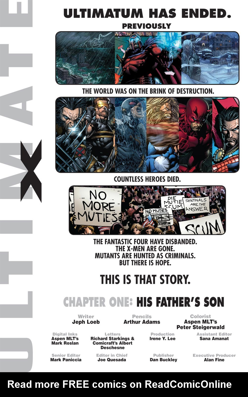 Read online Ultimate X comic -  Issue #1 - 2