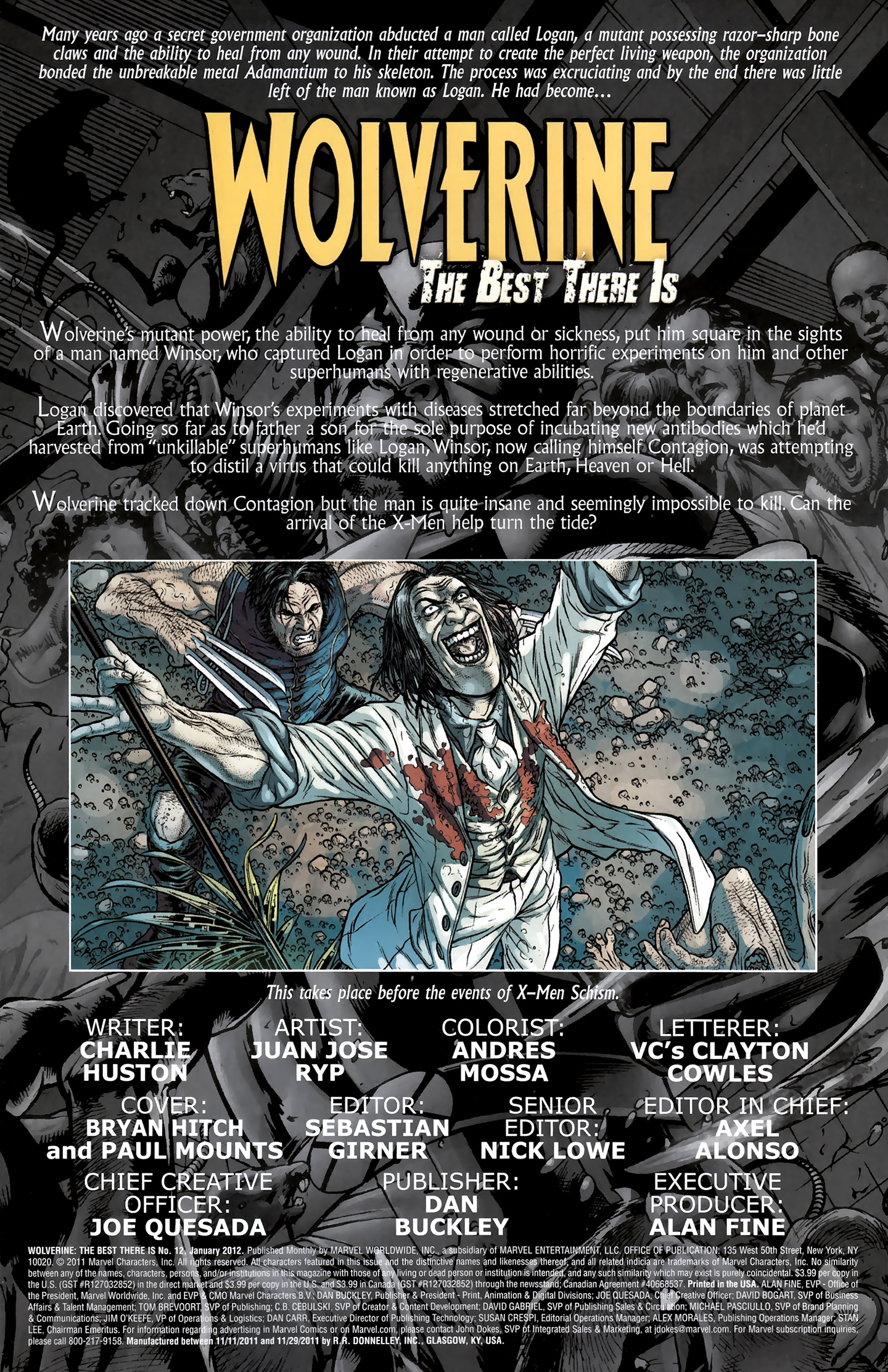 Read online Wolverine: The Best There Is comic -  Issue #12 - 2