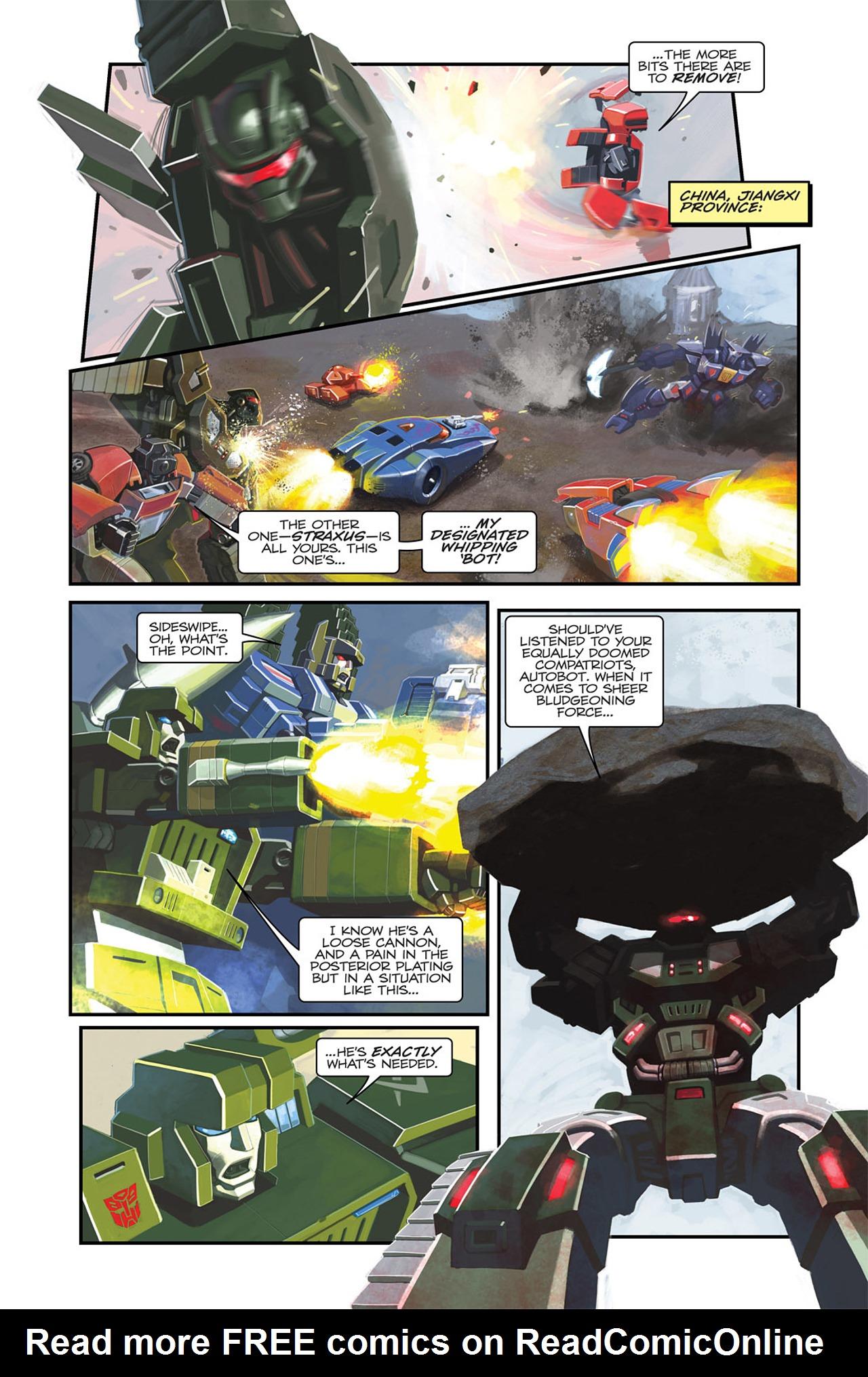 Read online Transformers Spotlight: Sideswipe comic -  Issue # Full - 6