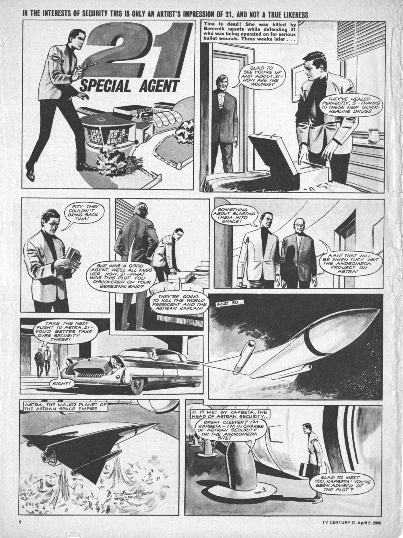 Read online TV Century 21 (TV 21) comic -  Issue #63 - 2