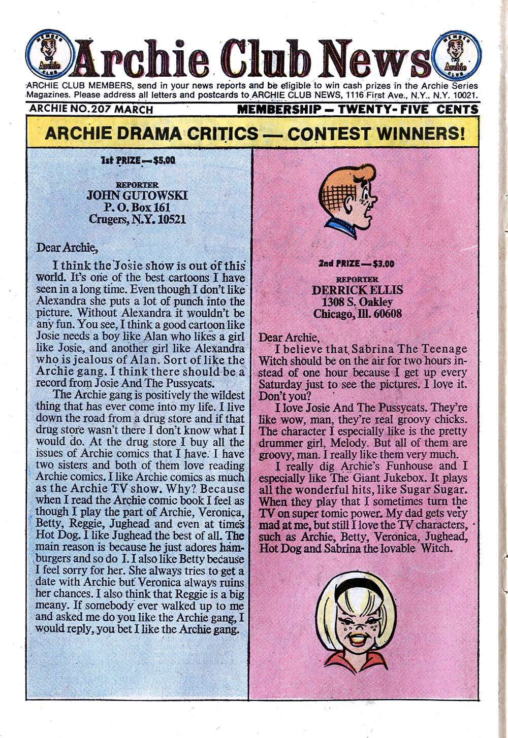 Read online Archie (1960) comic -  Issue #207 - 10