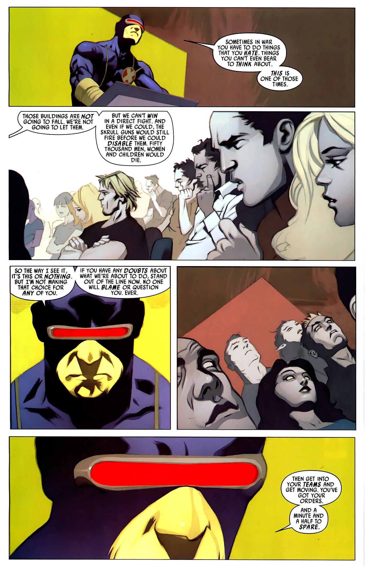 Read online Secret Invasion: X-Men comic -  Issue #4 - 8