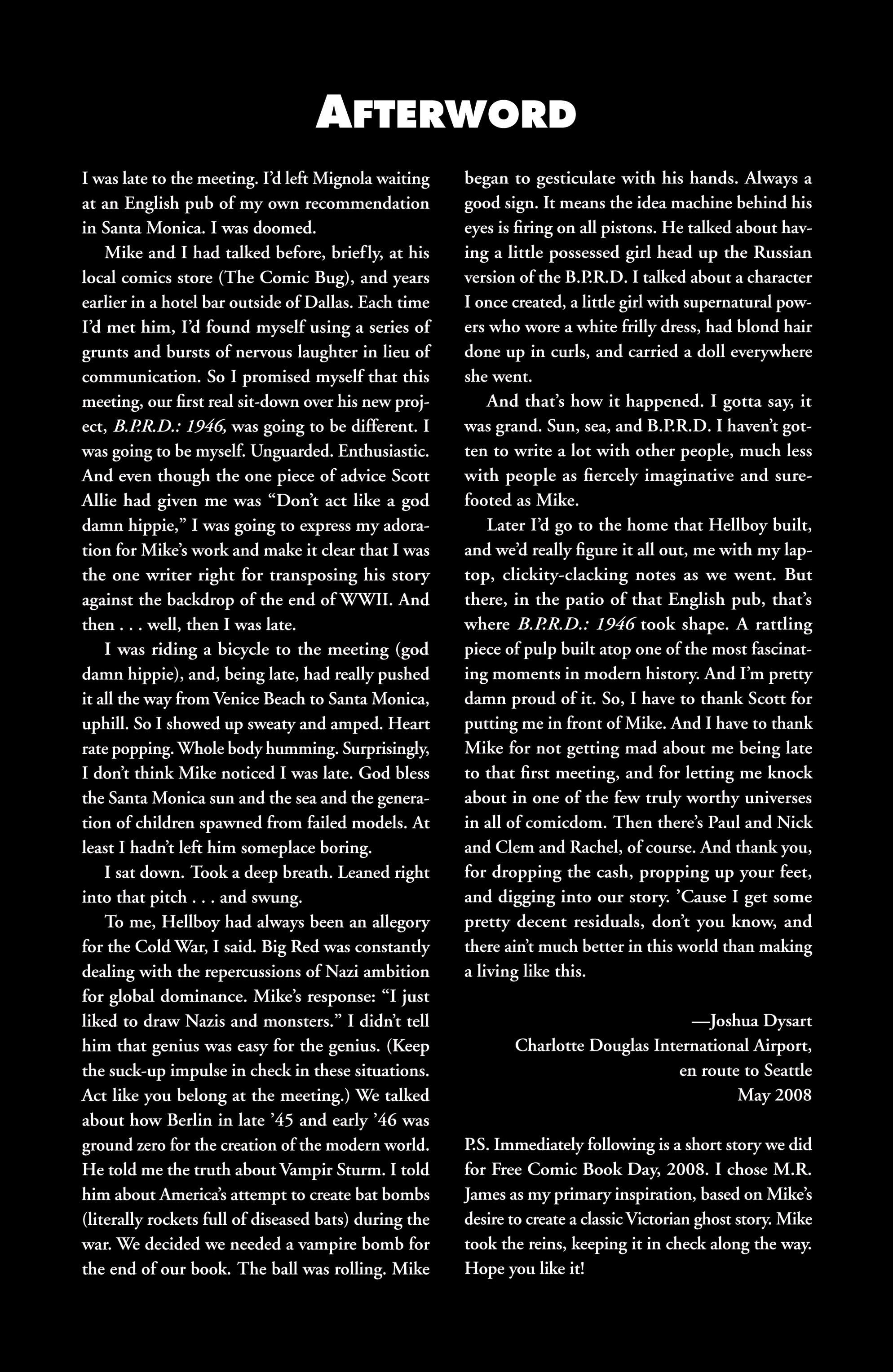 Read online B.P.R.D. (2003) comic -  Issue # TPB 9 - 136