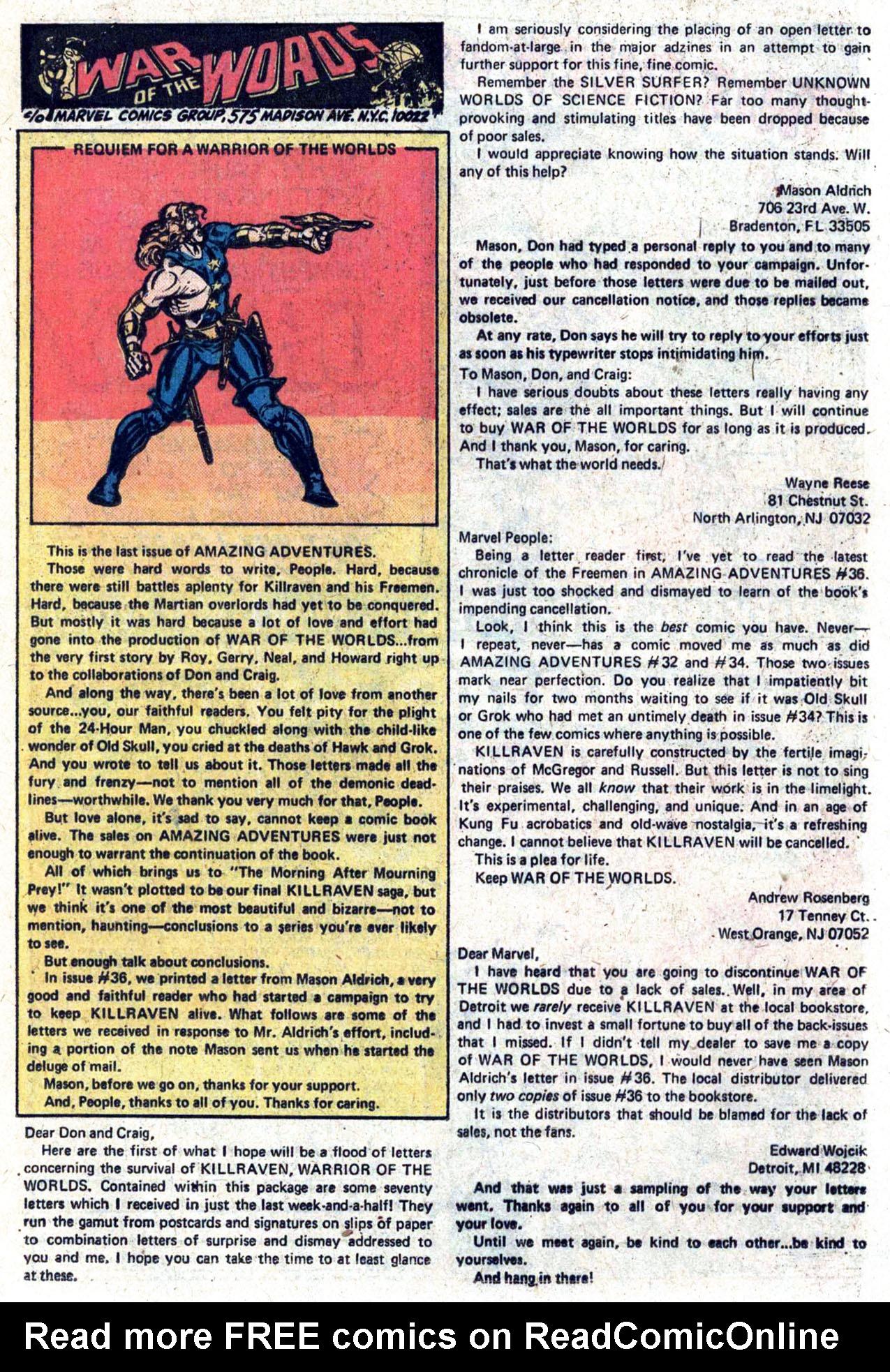 Read online Amazing Adventures (1970) comic -  Issue #39 - 20