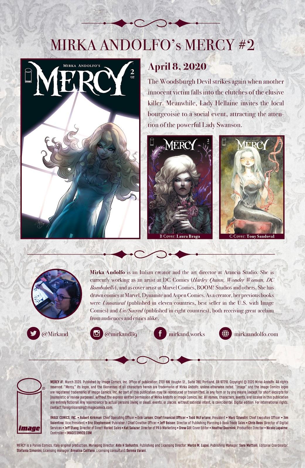 Read online Mirka Andolfo's Mercy comic -  Issue #1 - 29