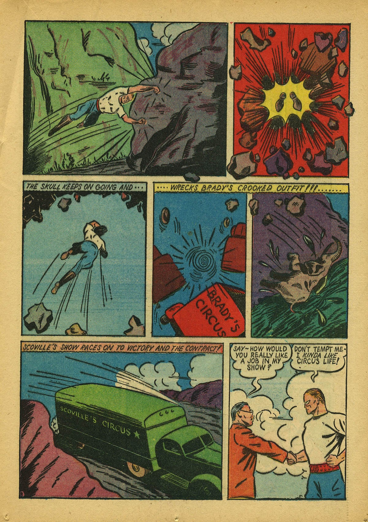 Read online Amazing Man Comics comic -  Issue #22 - 24