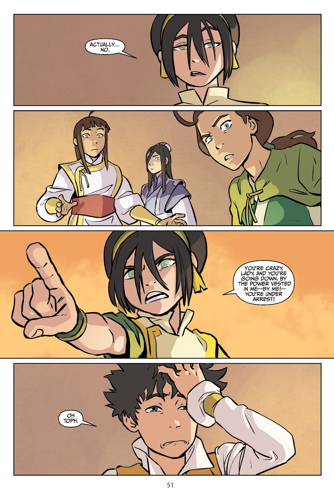 Read online Nickelodeon Avatar: The Last Airbender - Imbalance comic -  Issue # TPB 2 - 52