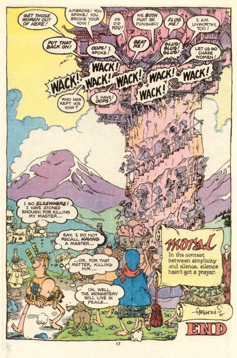Read online Sergio Aragonés Groo the Wanderer comic -  Issue #15 - 17