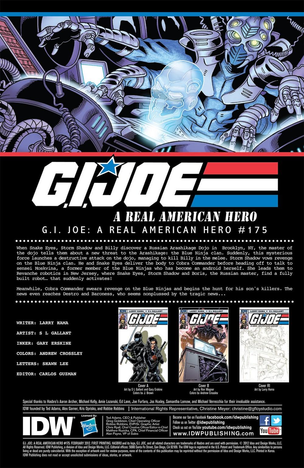 G.I. Joe: A Real American Hero 175 Page 3