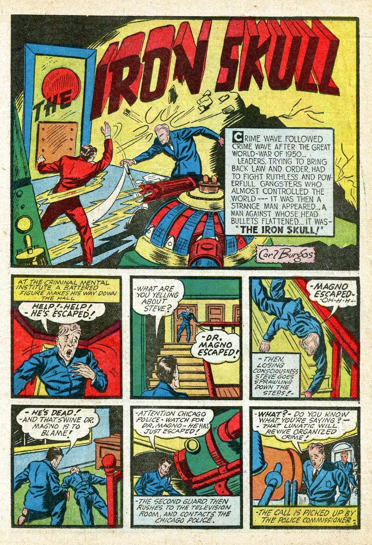Read online Amazing Man Comics comic -  Issue #8 - 21