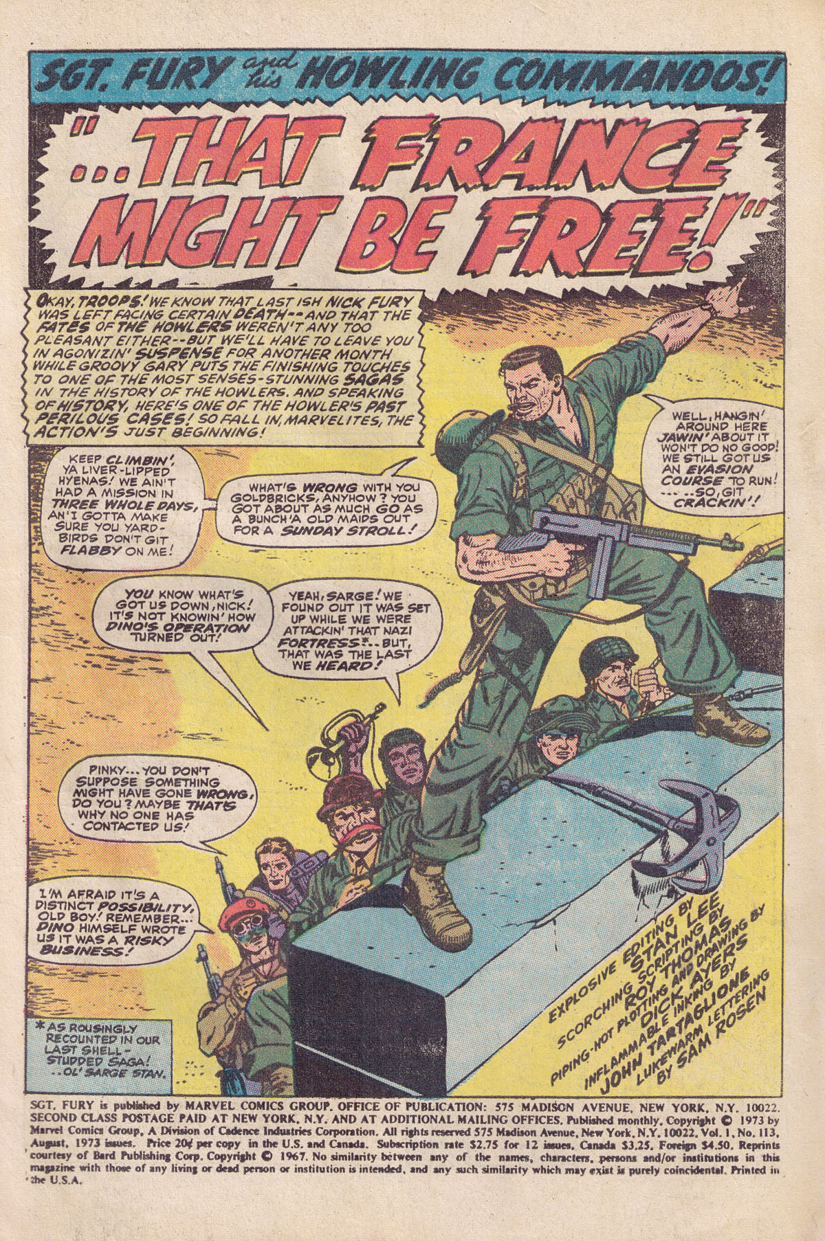 Read online Sgt. Fury comic -  Issue #113 - 3