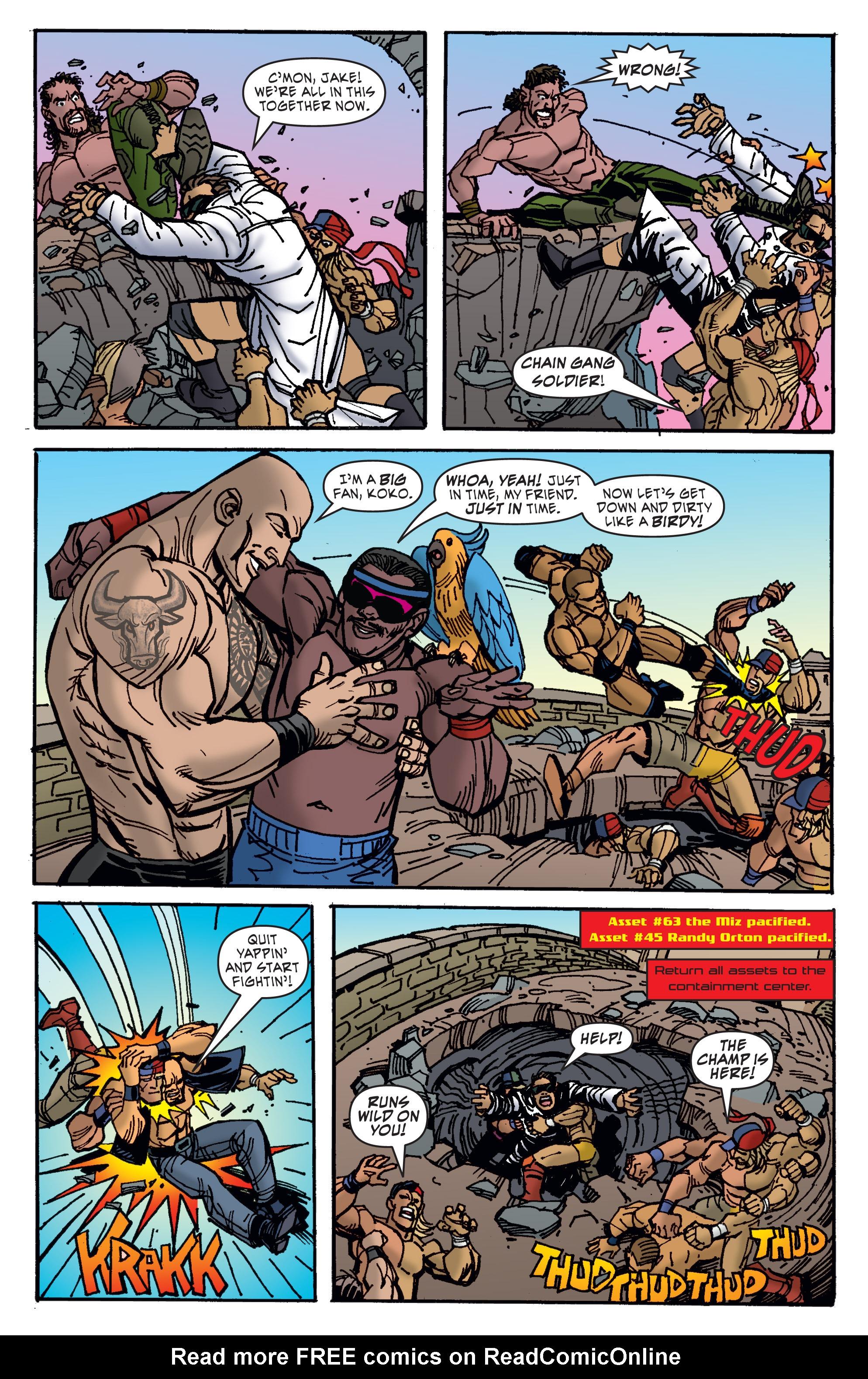 Read online WWE Superstars comic -  Issue #11 - 14