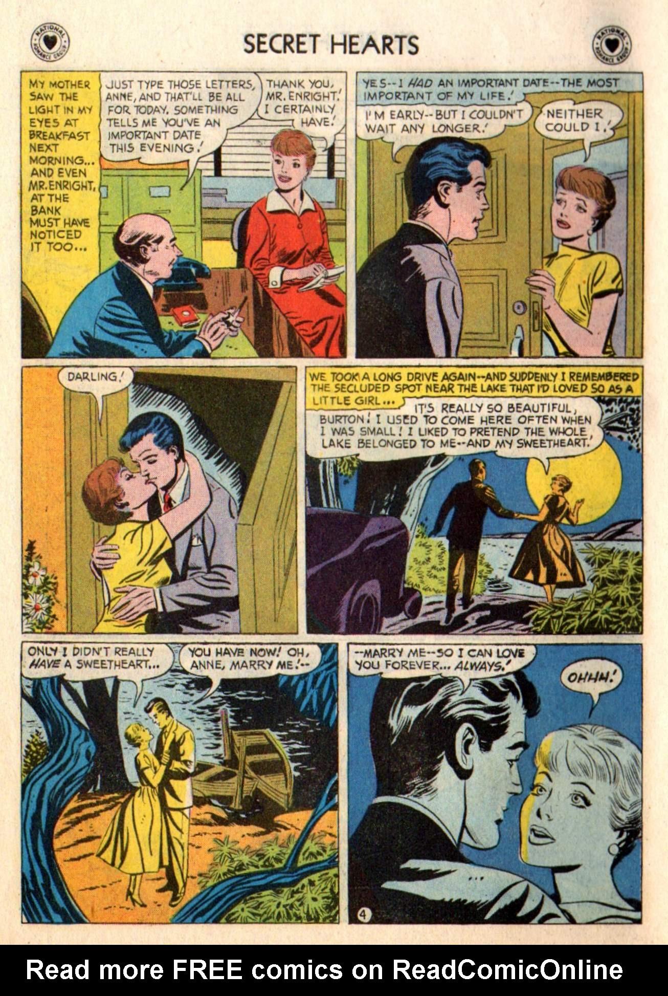 Read online Secret Hearts comic -  Issue #48 - 6