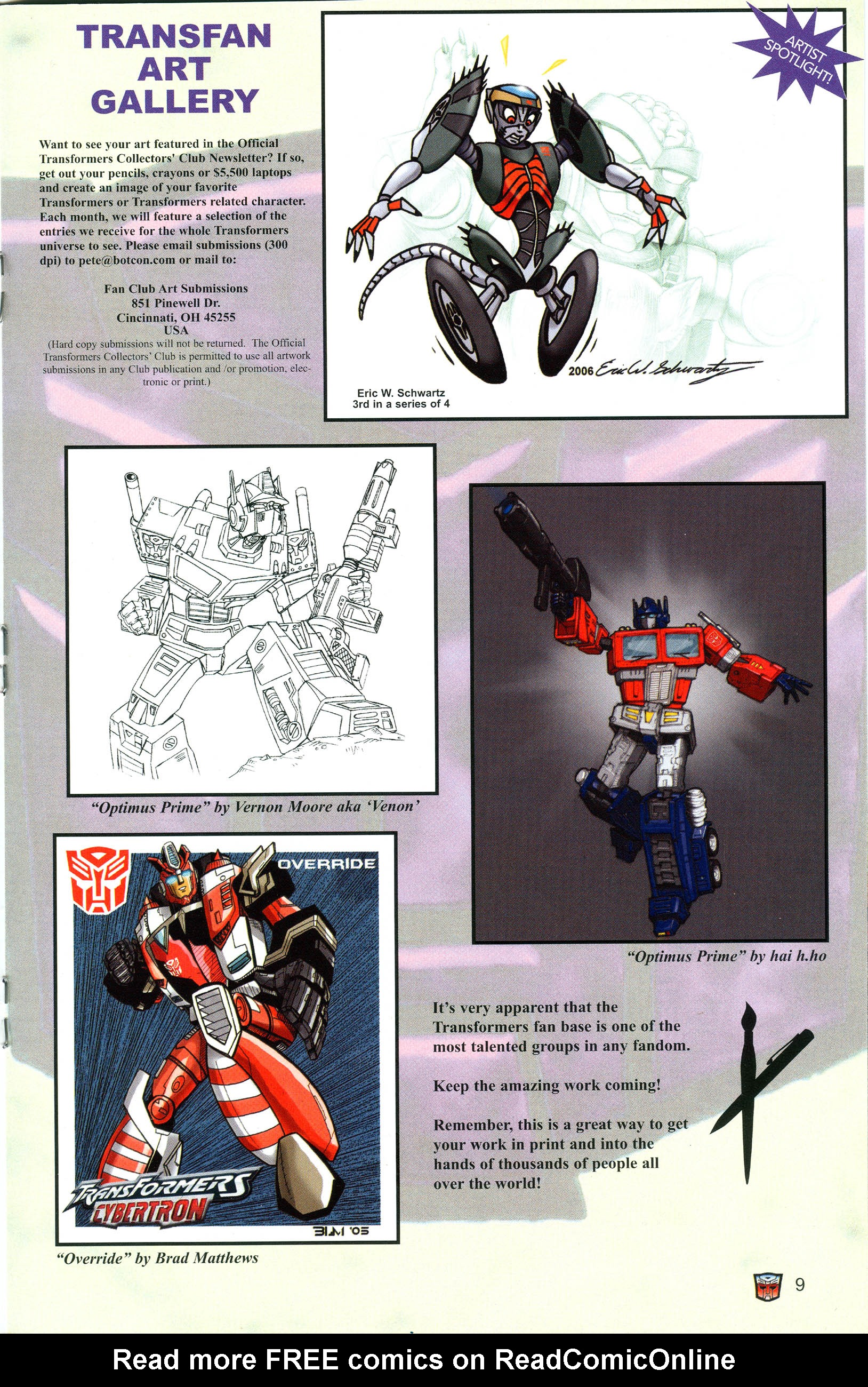 Read online Transformers: Collectors' Club comic -  Issue #11 - 9