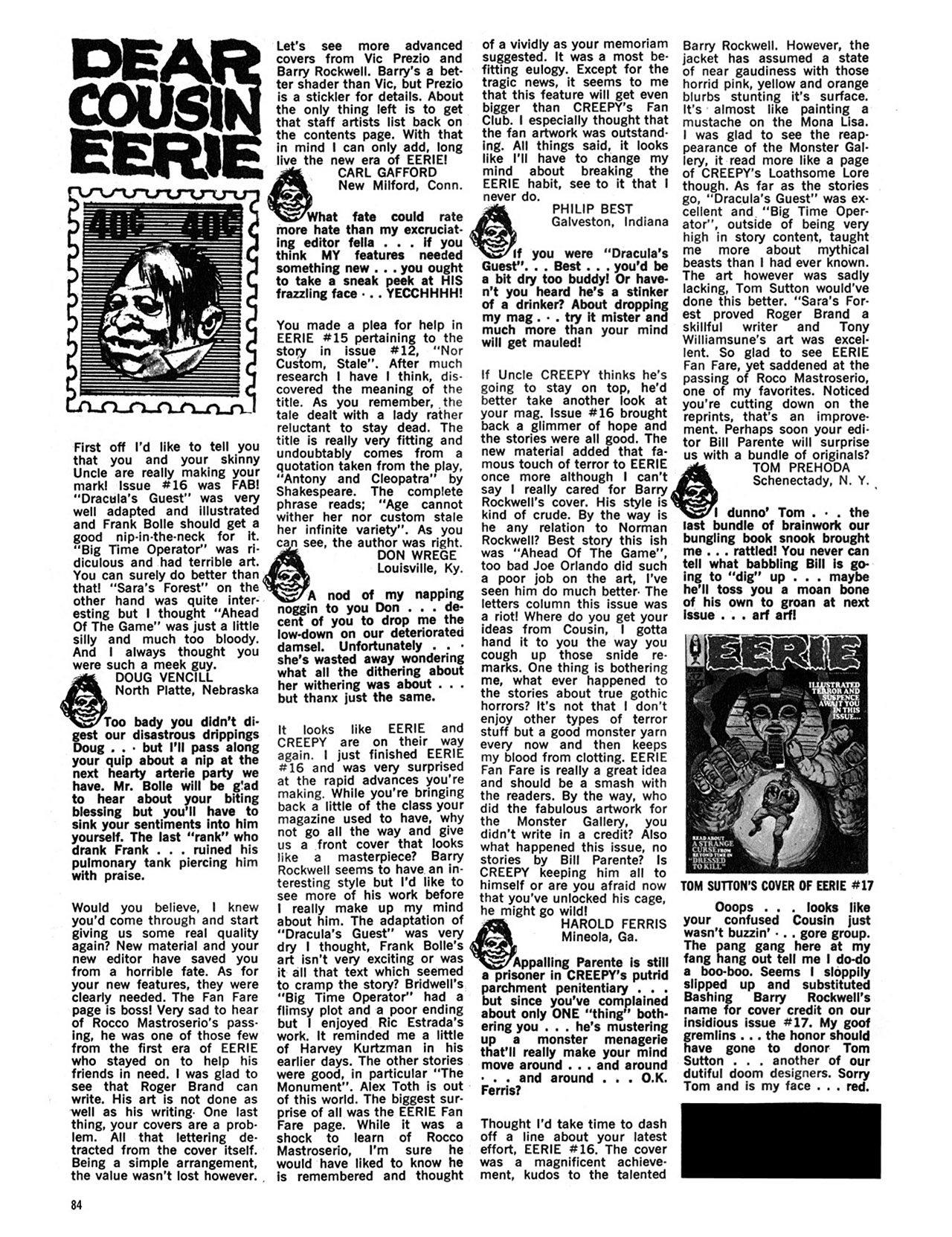 Read online Eerie Archives comic -  Issue # TPB 4 - 85